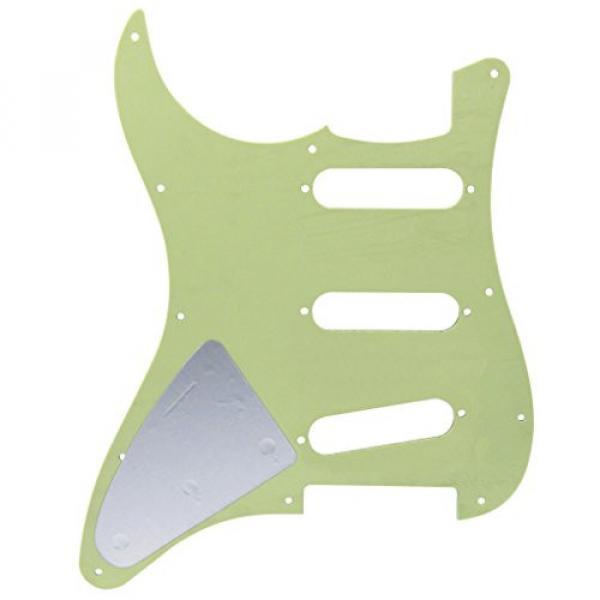 IKN Squier Style Guitar Pickguard Scratch Plate SSS w/Screws Mint Green Pearl #3 image