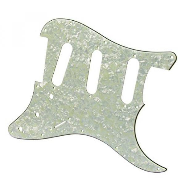IKN Squier Style Guitar Pickguard Scratch Plate SSS w/Screws Mint Green Pearl #5 image