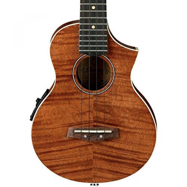 Ibanez UEW15E Flame Mahogany Concert Acoustic-Electric Ukulele Natural #1 image