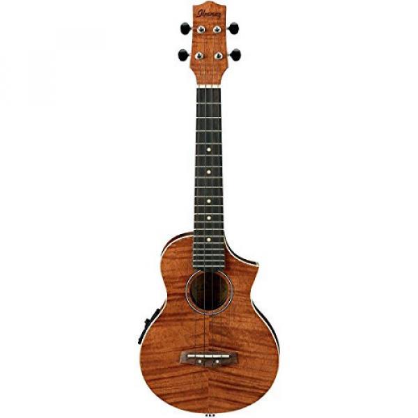 Ibanez UEW15E Flame Mahogany Concert Acoustic-Electric Ukulele Natural #2 image