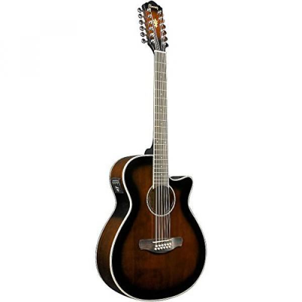 Ibanez AEG1812II AEG 12-String Acoustic-Electric Guitar Dark Violin Sunburst #3 image